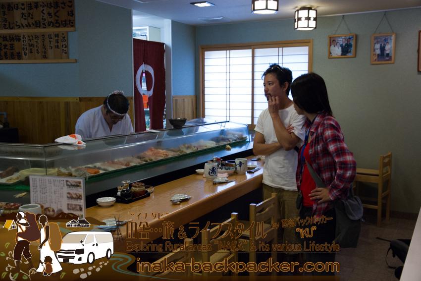 石川県穴水町 - 幸寿しの橋本公生さんにお話しを聞いた。