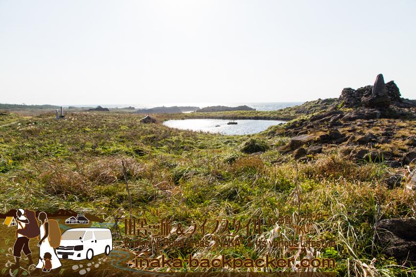 石川県舳倉島(へぐらじま)の龍神池
