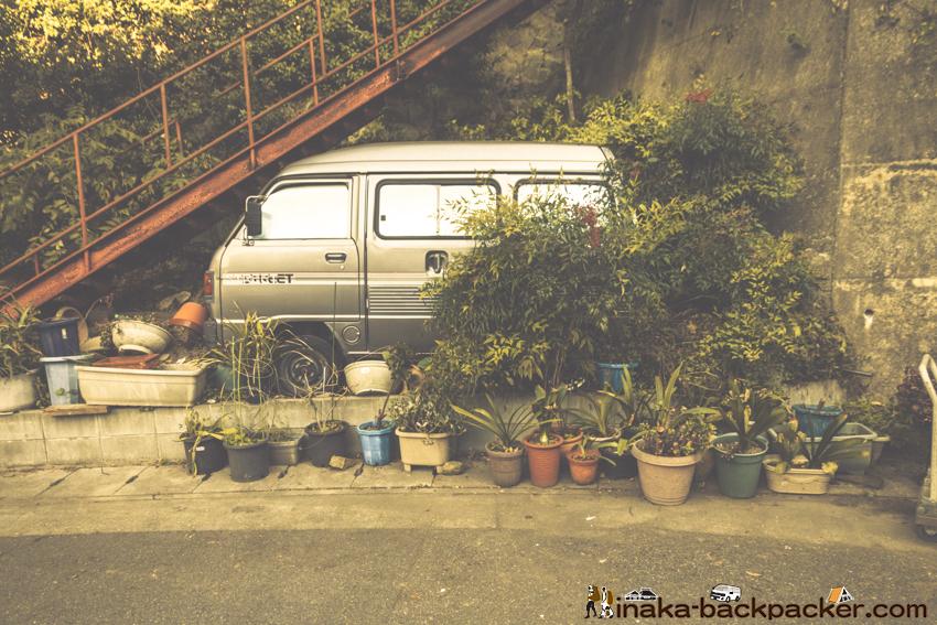 兵庫県 坊勢島 廃棄された軽トラック