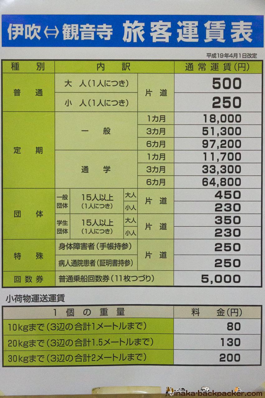 伊吹島 バックパッカー 時刻表 ibuki jima island time schedule