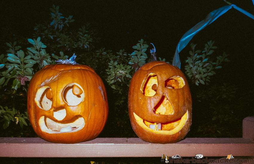 アメリカ オレゴン ハロウィーン かぼちゃ パンプキン 削る