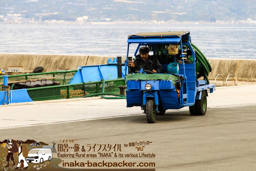 八幡浜大島(愛媛県) ミニバキュームカー 小型 衛生車 ehime yahatahama ohshima island japan toilet truck