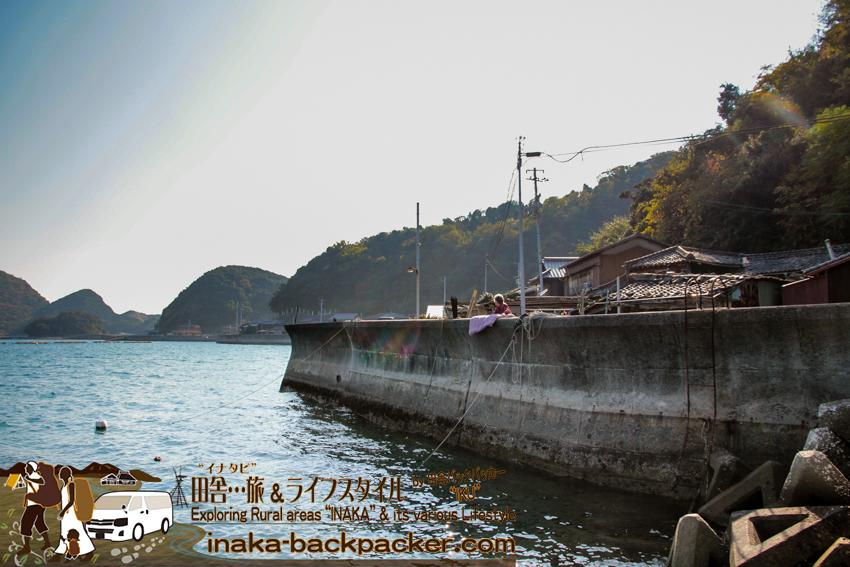 八幡浜大島 布団干す 島旅 ehime yahatahama ohshima island japan