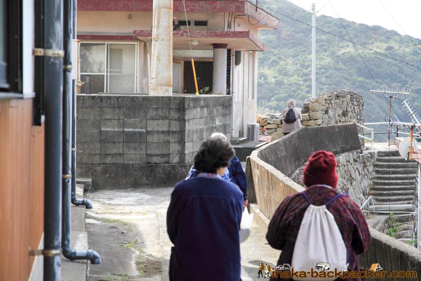 Okinoshima island in Kochi Japan 高知県 沖の島 人口200人 あったかふれあいセンター