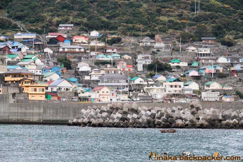 Okinoshima island in Kochi Japan 高知県 沖の島 人口200人