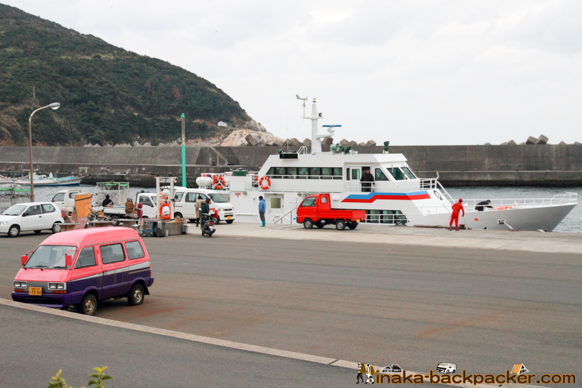 Okinoshima island in Kochi Japan 高知県 沖の島 待合室
