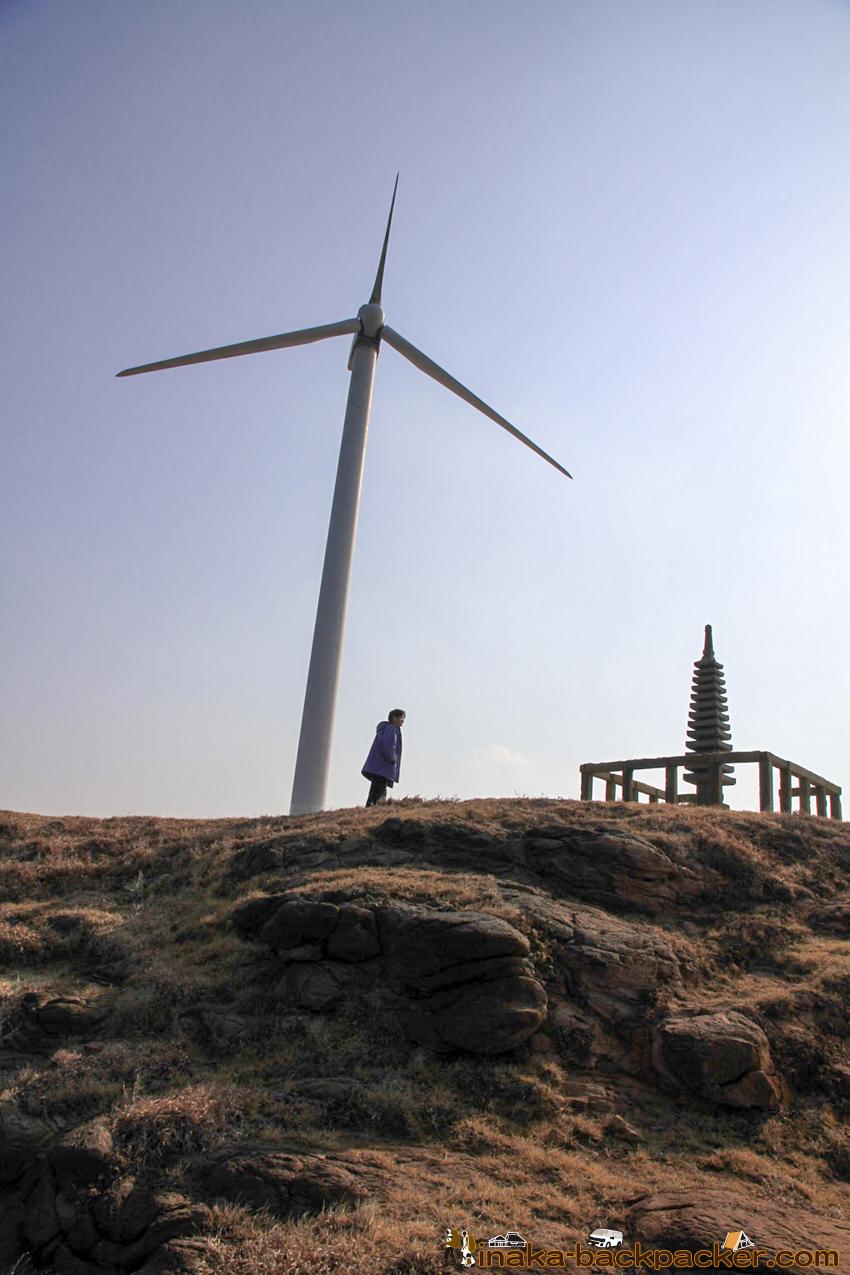 ukujima island in Nagasaki 長崎県 五島列島 宇久島 平家盛 歴史 風力発電