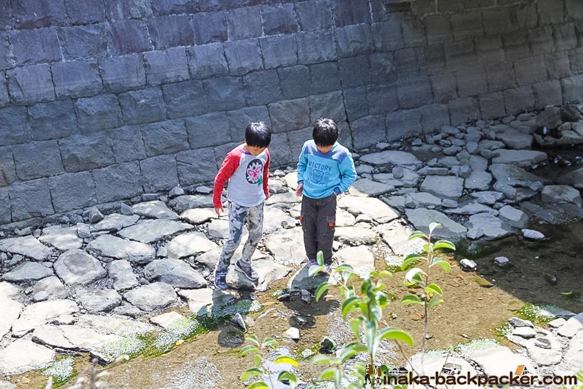天草 川 遊ぶ子どもたち