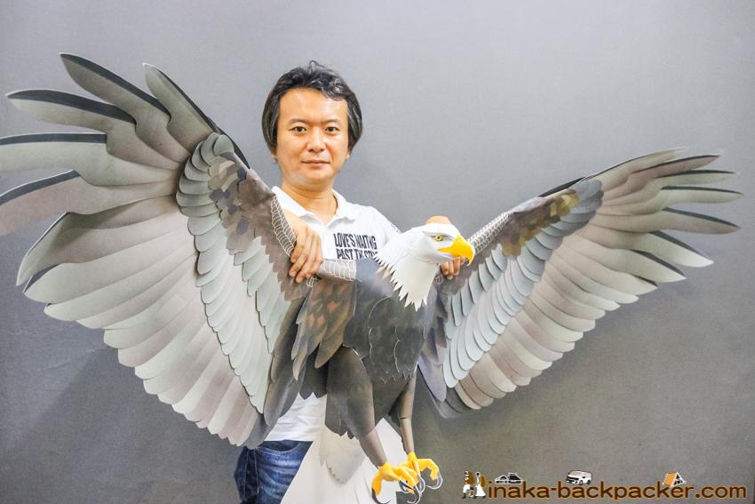 アメリカ大使館 白頭大鷲 ペーパークラフト 穴澤郁雄