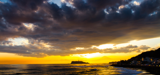 鎌倉 江ノ島 富士山 サーファー