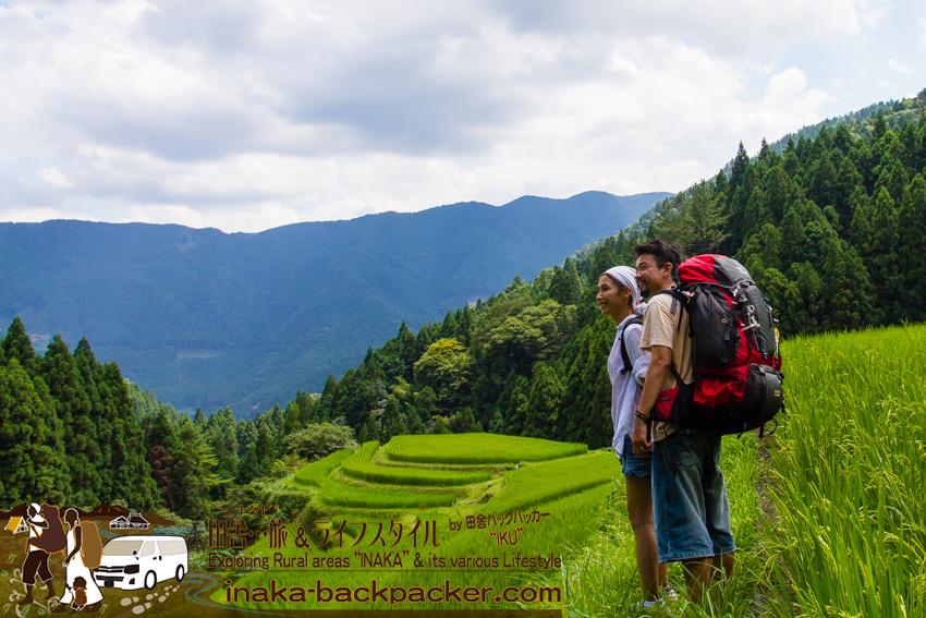 徳島県 上勝町 樫原の棚田 tokushima kamikatsu backpacking rice terrace japan