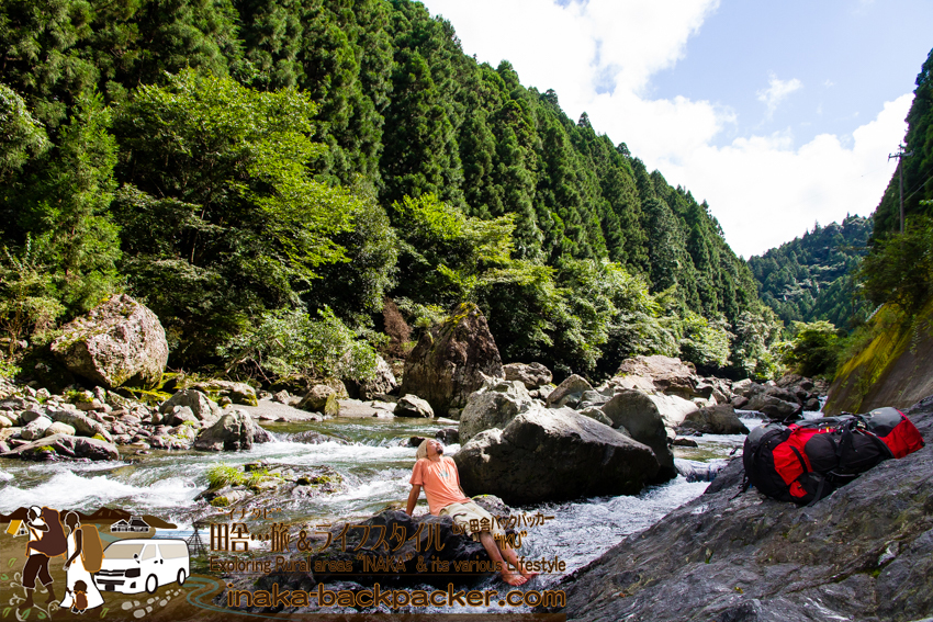 徳島県 上勝町 勝浦川 遊ぶ tokushima kamikatsu river