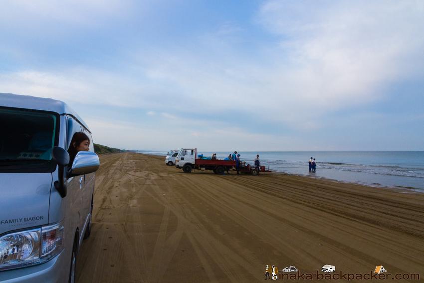 千里浜なぎさドライブウェイ  地引網
