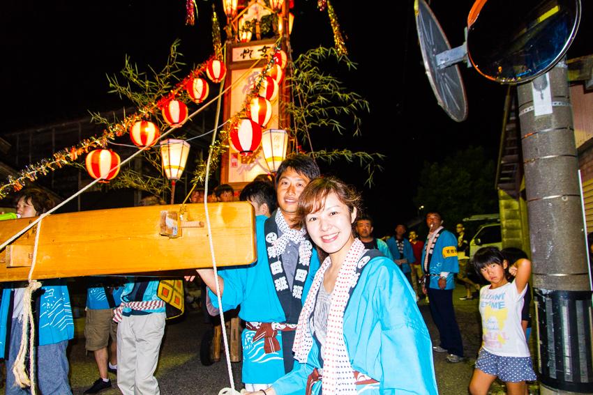 能登 穴水町岩車 キリコ祭り 宴会 金沢大学 祭り体験 田代愛里