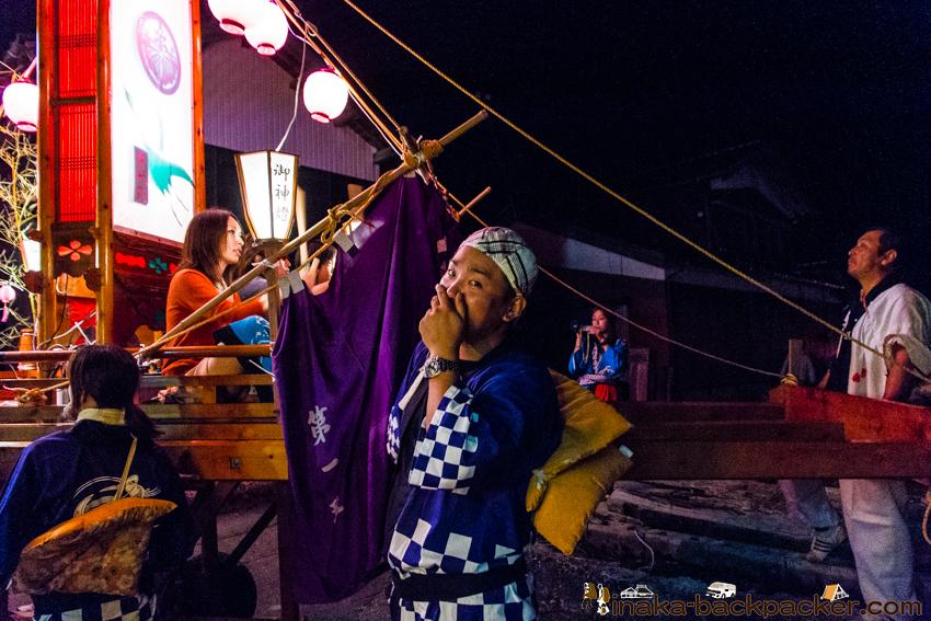 穴水町岩車 キリコ祭り 滝ひろし