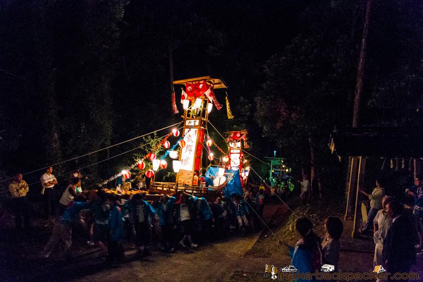 穴水町 岩車 キリコ祭り クライマックス