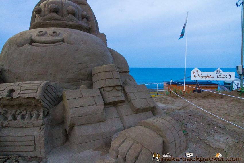 千里浜なぎさドライブウェイ 砂アート