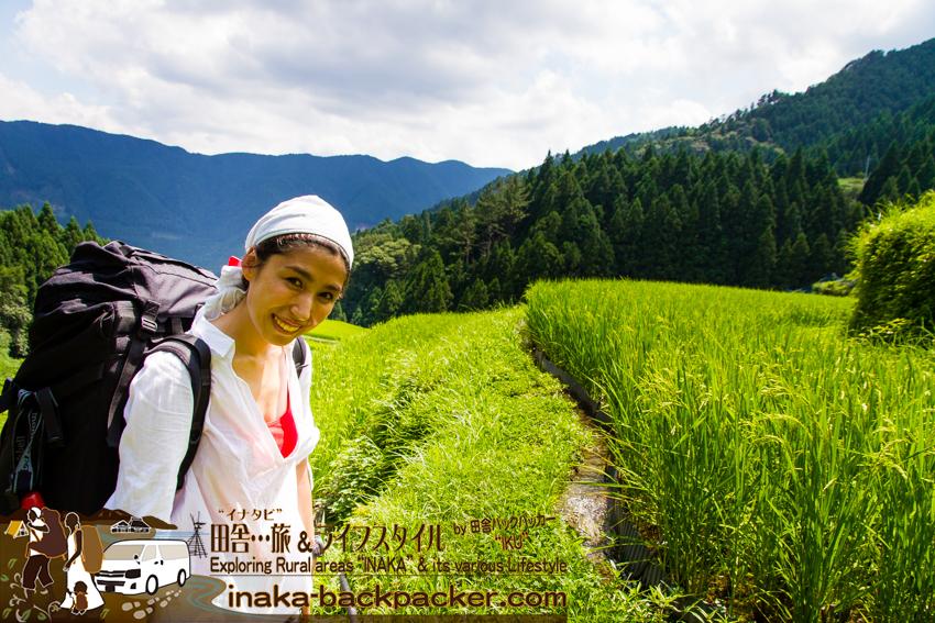 上勝町 バックパッカー 徳島県 歩く 樫原の棚田 tokushima kamikatsu rice terrace backpacking