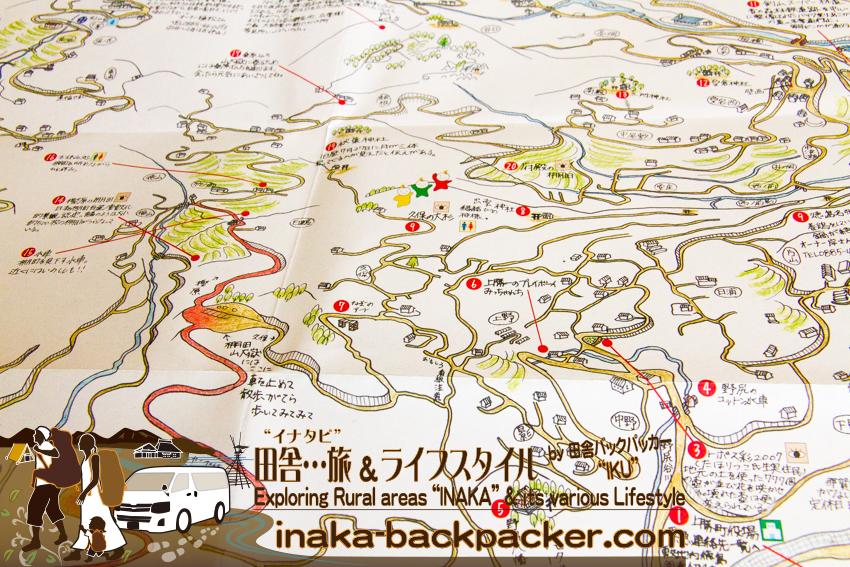 徳島県 上勝町 地図 わかりやすい イラスト地図 tokushima kamikatsu map