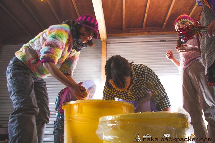 味噌作り 麹 塩 豆 混ぜる making miso