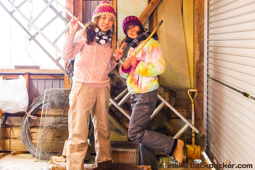 田舎 薪味噌 味噌ガールズ anamizu iwaguruma making miso experience girls