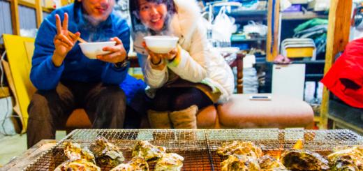 石川県 能登半島 穴水町 牡蠣 炭火焼き Ishikawa Noto Oyster BBQ