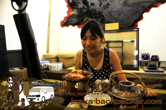 雑誌では紹介しきれなかったがここは青森県の「山のホテル」の食堂「マタギ飯」。熊を食った!