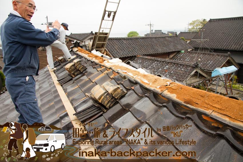 穴水町 瓦屋 プロ 職人 空き家 改修 まずは屋根 empty houses countryside  rural areas japan