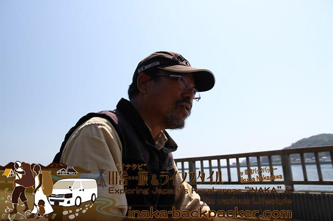 熊本県天草市牛深 – 北海道からハイエースで旅をしている二階堂隆夫さん