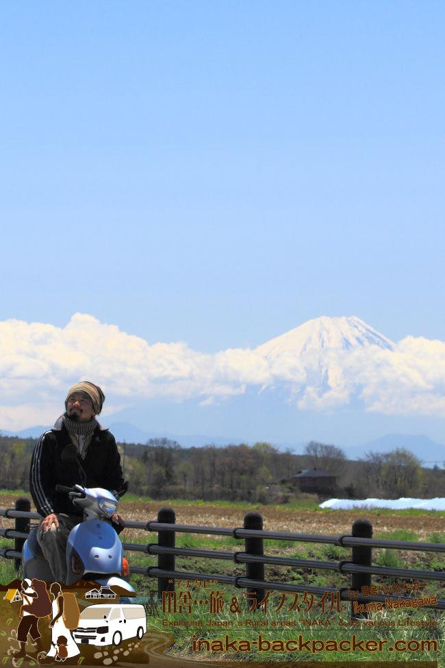 神奈川から富士山への原付でのバックパッカー田舎旅ってのも楽しいもんだよ。ちなみに、2012年、鎌倉から徳島へ、原付で行ったこともあった。