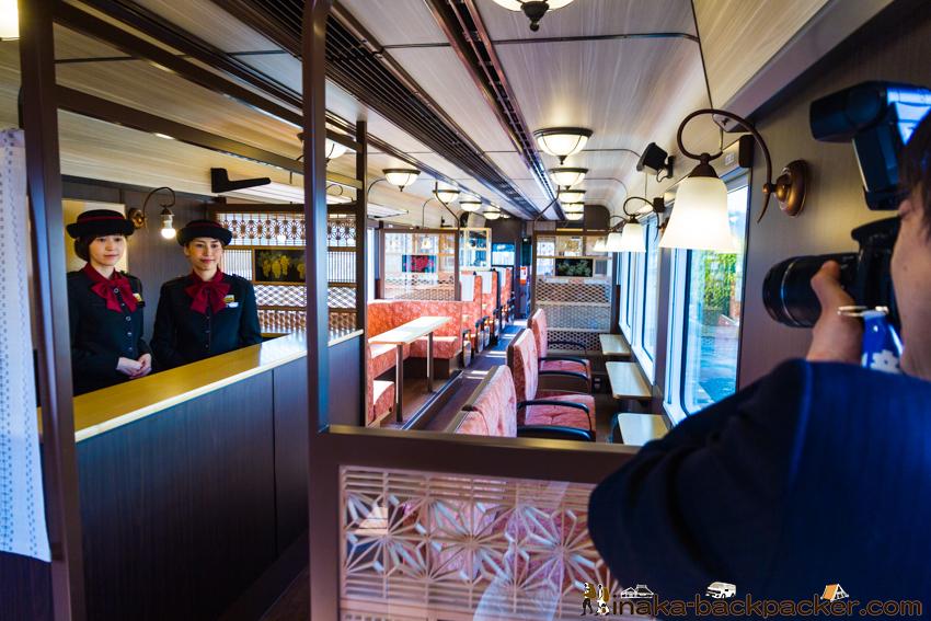 のと鉄道 観光列車 のと里山里海号 アテンダント 撮影
