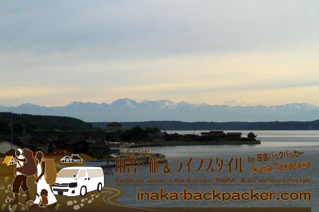 能登半島から眺める6月ごろの立山連峰