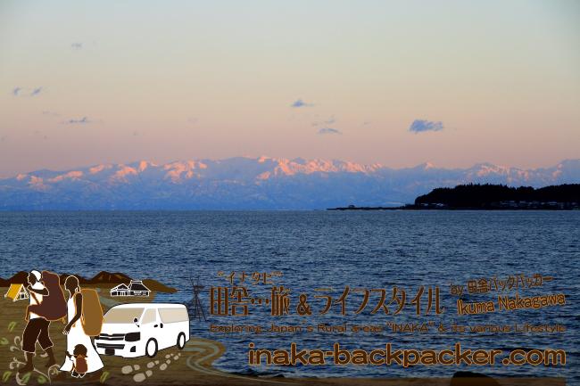富山湾/七尾北湾に浮く立山連峰