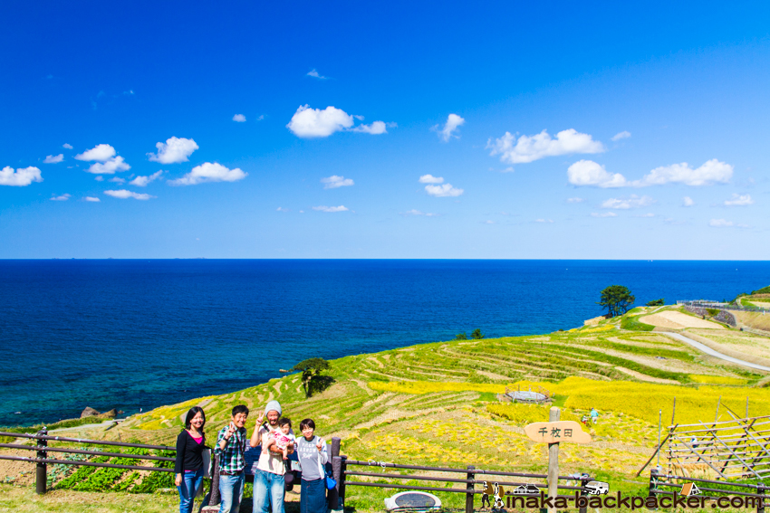 白米千枚田 奥能登一周 旅  traveling around the Noto Peninsula by driving and backpacking. Shirayone senmaida in Wajima