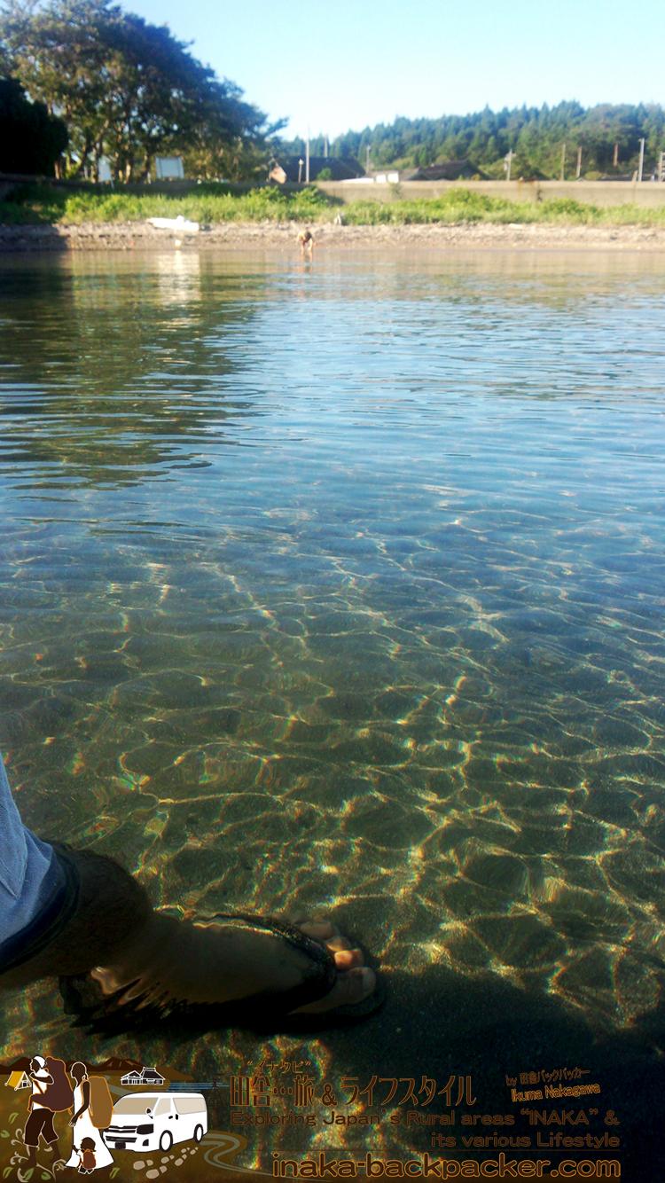 能登・穴水町岩車のプライベートビーチ...この透明度...