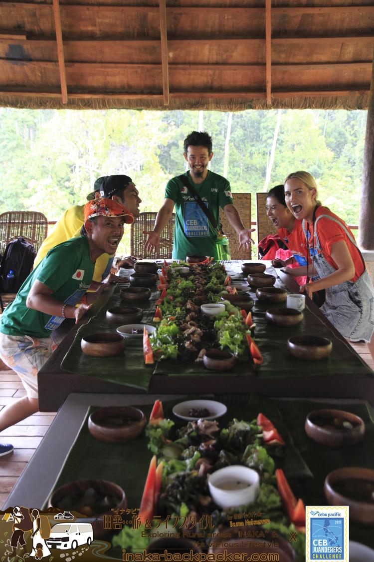 フィリピンで出会った循環型農家レストランにて...すべてオーガニック。肉はストレスフリーの自然環境で育った動物たち。自然の恵みに感謝...