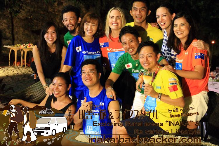 Last party in Boracay island, Philippines / フィリピン・ボラカイ島で、チャレンジ最終日のパーティー