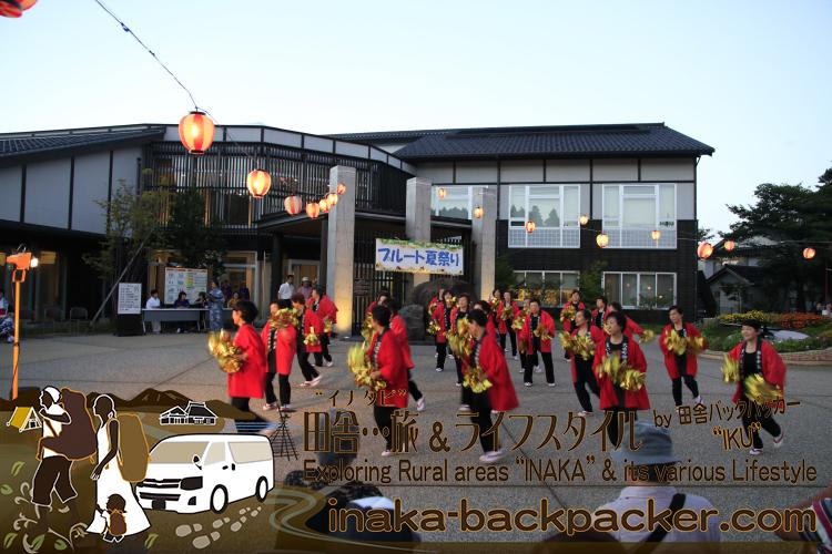 能登・穴水町(石川県) - 「穴水町さわやか交流館プルート」夏祭り。穴水町健康クラブの「ぼけない音頭」が...実に面白かった。
