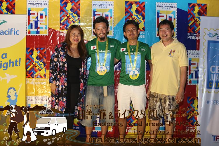 「#CEBjuanderers Backpacker Challenge(セブ・フアンダラーズ・バックパッカー・チャレンジ)」で優勝した日本チーム