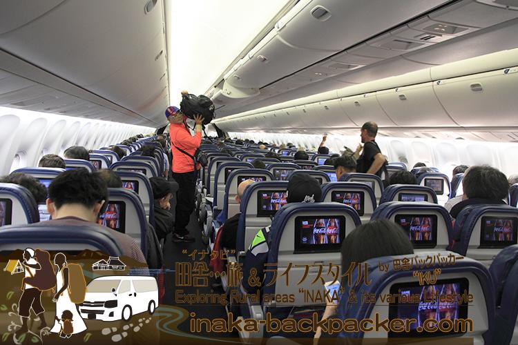 オレゴン州での学生時代、デルタ航空ばかり活用していた。久々のデルタ航空。機内も広くなったような気がするなぁ。