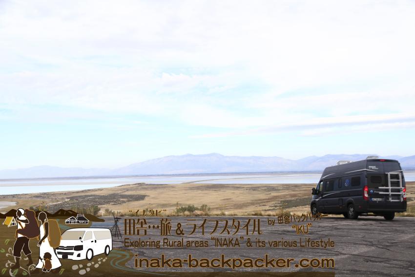 ユタ州グレートソルトレイク・アンテロープアイランド(島) - グレートソルトレイクを眺める