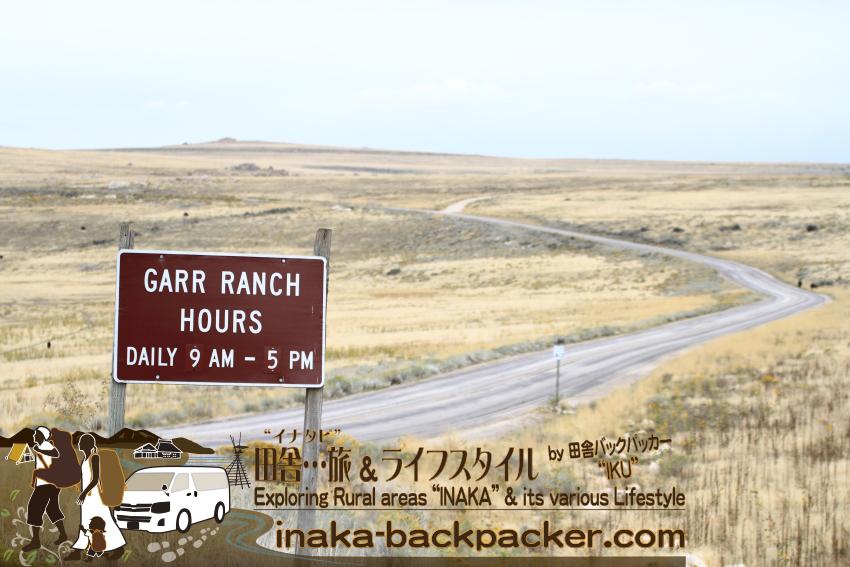 ユタ州グレートソルトレイク・アンテロープアイランド(島) - Garr Ranch Hours Daily 9AM - 5PM.