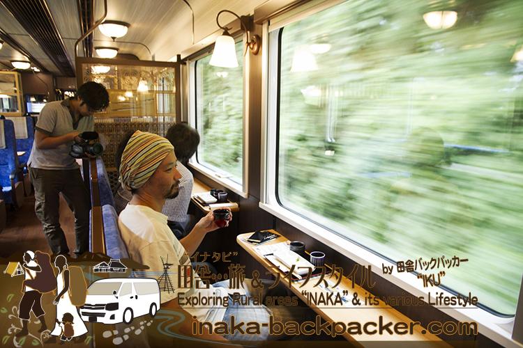 """のと鉄道の観光列車「のと里山里海号」の""""能登の地酒楽しめる「ほろ酔いプラン」"""