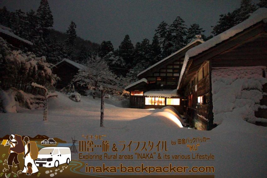 能登を代表する庄屋『中谷家』の雪景色