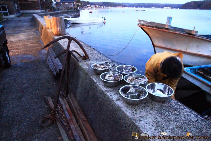 """「Coast Table (コースト・テーブル)」の目の前で牡蠣を水揚げし、このボールに入れてお客さんの手元に届ける。言うまでもないが...""""新鮮""""だ!"""
