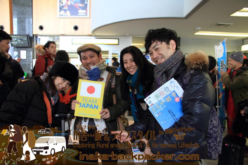 まずは能登空港で、Kyahさん夫婦、ゆうこちゃん、ジョーくんと出会う。そこから、すぐに奥能登一周旅へ。