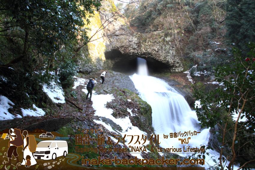 能登・輪島市大沢村 - NHK朝の連続テレビ小説「まれ」のロケ地にある穴場「桶滝(おけだき)」