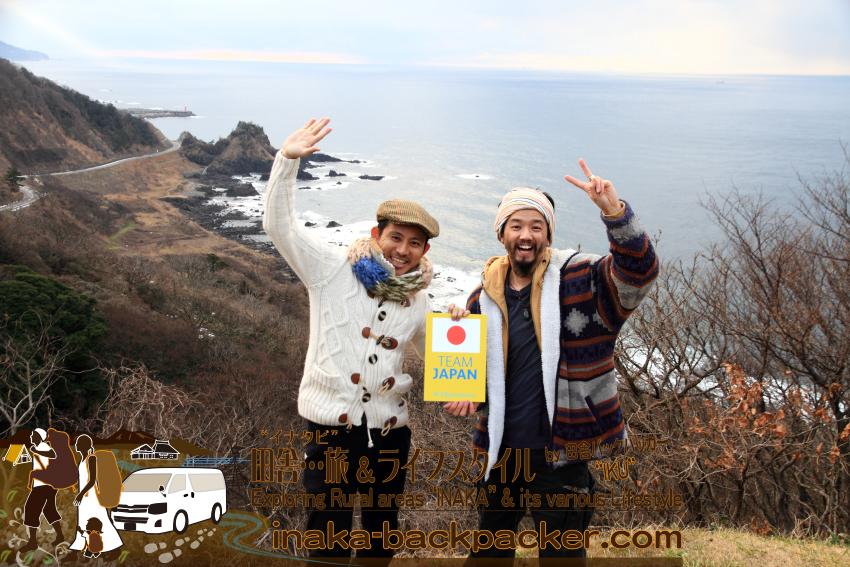 """今回の田舎/能登での『""""ざっくばらんな""""田舎ライフスタイル体験』 へとつなげてくれたKyahさん(田中秀宗さん)。「Team Japan」はフィリピンへのバックパッカーブロガー旅での思い出。"""