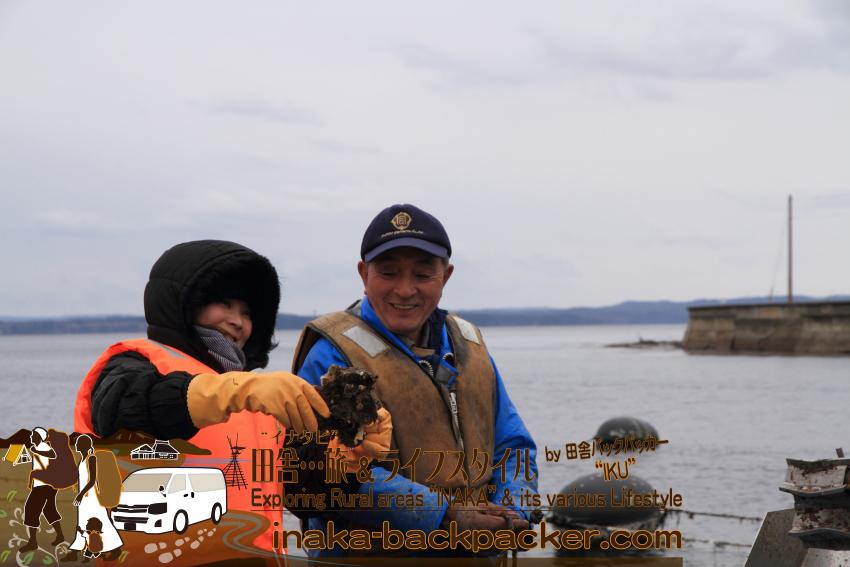 これから牡蠣の水揚げ体験/見学だ。牡蠣体験第四弾目!