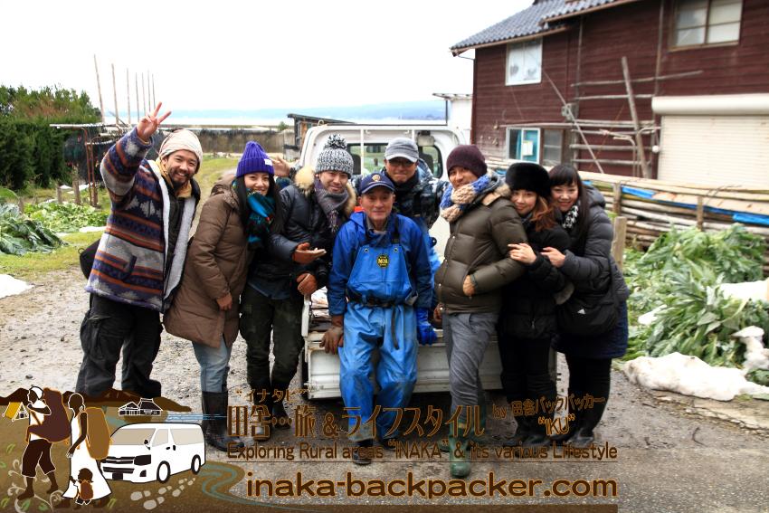 能登・穴水町岩車 - 河端勝男さん・譲さん親子と牡蠣の水揚げ体験も